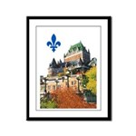 Frontenac Castle with Lys Flo Framed Panel Print