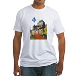 Frontenac Castle with Lys Flo Fitted T-Shirt