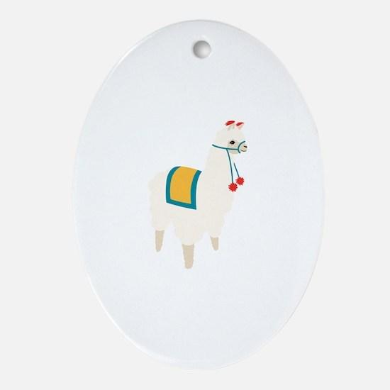 Alpaca Animal Oval Ornament