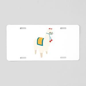Alpaca Animal Aluminum License Plate