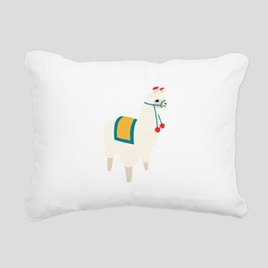 Alpaca Animal Rectangular Canvas Pillow