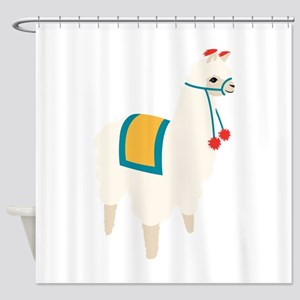Alpaca Animal Shower Curtain