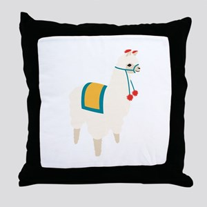 Alpaca Animal Throw Pillow