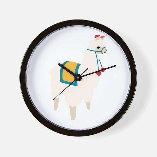 Alpaca Animal Wall Clock