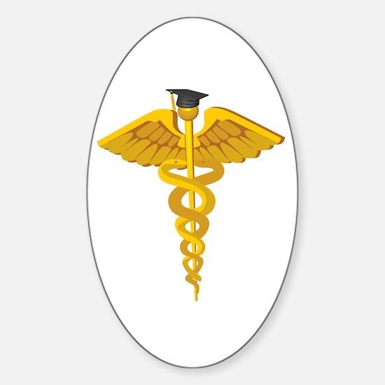 Medical School Graduation Oval Decal