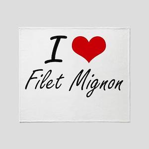 I love Filet Mignon Throw Blanket