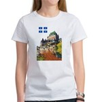 Frontenac Castle and Flag Women's T-Shirt