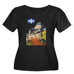 Frontenac Castle and Flag Women's Plus Size Scoop