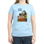 Frontenac Castle and Flag Women's Light T-Shirt