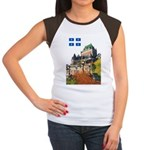 Frontenac Castle and Flag Women's Cap Sleeve T-Shi