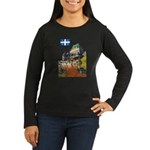 Frontenac Castle and Flag Women's Long Sleeve Dark