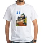 Frontenac Castle and Flag White T-Shirt
