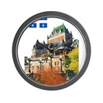 Frontenac Castle and Flag Wall Clock