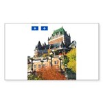 Frontenac Castle and Flag Rectangle Sticker