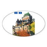 Frontenac Castle and Flag Oval Sticker
