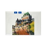 Frontenac Castle and Flag Rectangle Magnet (100 pa