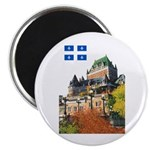 Frontenac Castle and Flag Magnet