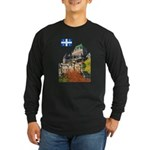 Frontenac Castle and Flag Long Sleeve Dark T-Shirt
