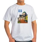 Frontenac Castle and Flag Light T-Shirt