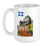 Frontenac Castle and Flag Large Mug