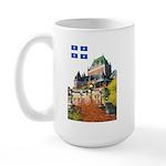 Frontenac Castle and Flag Large Mug
