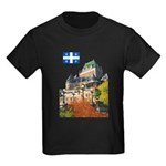 Frontenac Castle and Flag Kids Dark T-Shirt