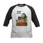 Frontenac Castle and Flag Kids Baseball Jersey