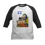 Frontenac Castle and Flag Kids Baseball Jersey