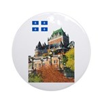 Frontenac Castle and Flag Ornament (Round)