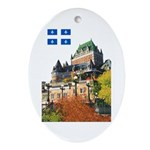 Frontenac Castle and Flag Oval Ornament