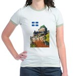 Frontenac Castle and Flag Jr. Ringer T-Shirt