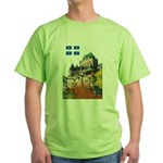 Frontenac Castle and Flag Green T-Shirt
