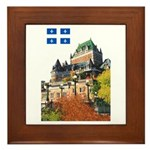 Frontenac Castle and Flag Framed Tile