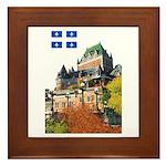 Frontenac Castle and Flag Framed Tile
