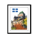 Frontenac Castle and Flag Framed Panel Print