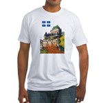 Frontenac Castle and Flag Fitted T-Shirt