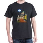 Frontenac Castle and Flag Dark T-Shirt