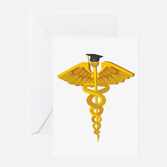 Doctor, nurse, medical gradua Greeting Card