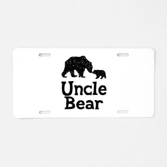 Uncle Bear Aluminum License Plate