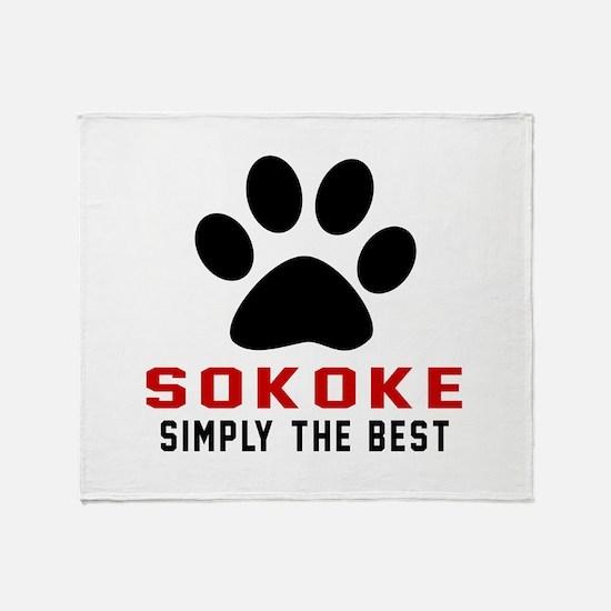 Sokoke Simply The Best Cat Designs Throw Blanket