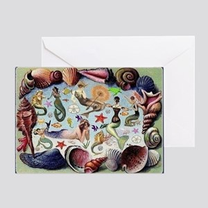 Mermaids Card Greeting Cards