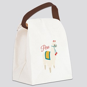 Peru Alpaca Canvas Lunch Bag