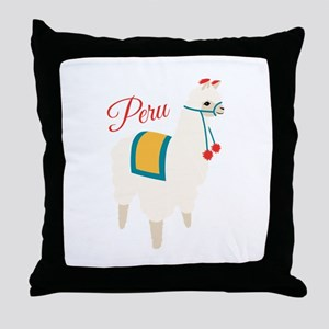 Peru Alpaca Throw Pillow