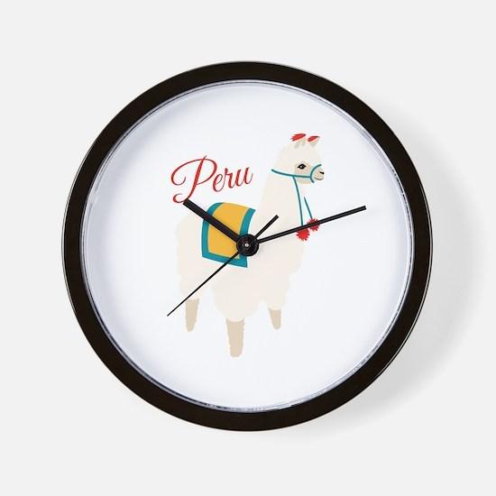 Peru Alpaca Wall Clock