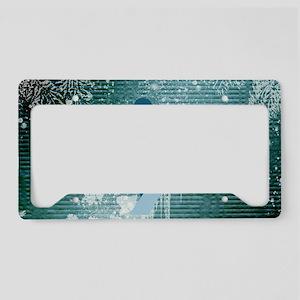 Snowboarding License Plate Holder