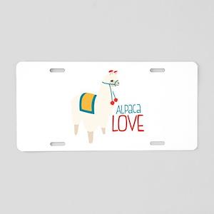 Alpaca Love Aluminum License Plate