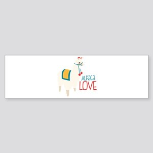 Alpaca Love Bumper Sticker