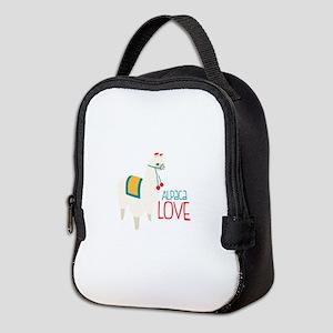 Alpaca Love Neoprene Lunch Bag
