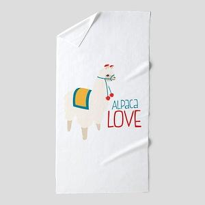 Alpaca Love Beach Towel