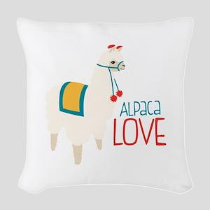 Alpaca Love Woven Throw Pillow